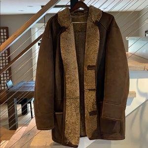 Shearling car coat
